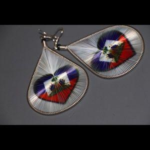 Fashion Earrings w/ Haitian Flag